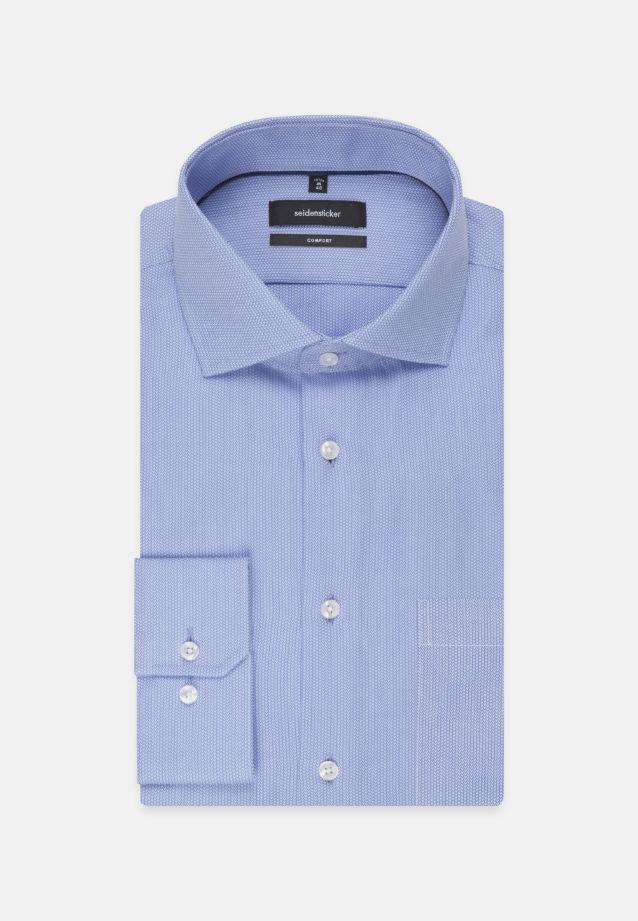 Easy-iron Structure Business Shirt in Comfort with Kent-Collar in Medium blue |  Seidensticker Onlineshop