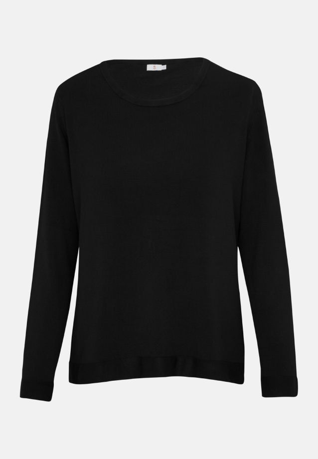 Crew Neck Pullover made of 83% Viskose 17% Polyamid/Nylon in Black |  Seidensticker Onlineshop