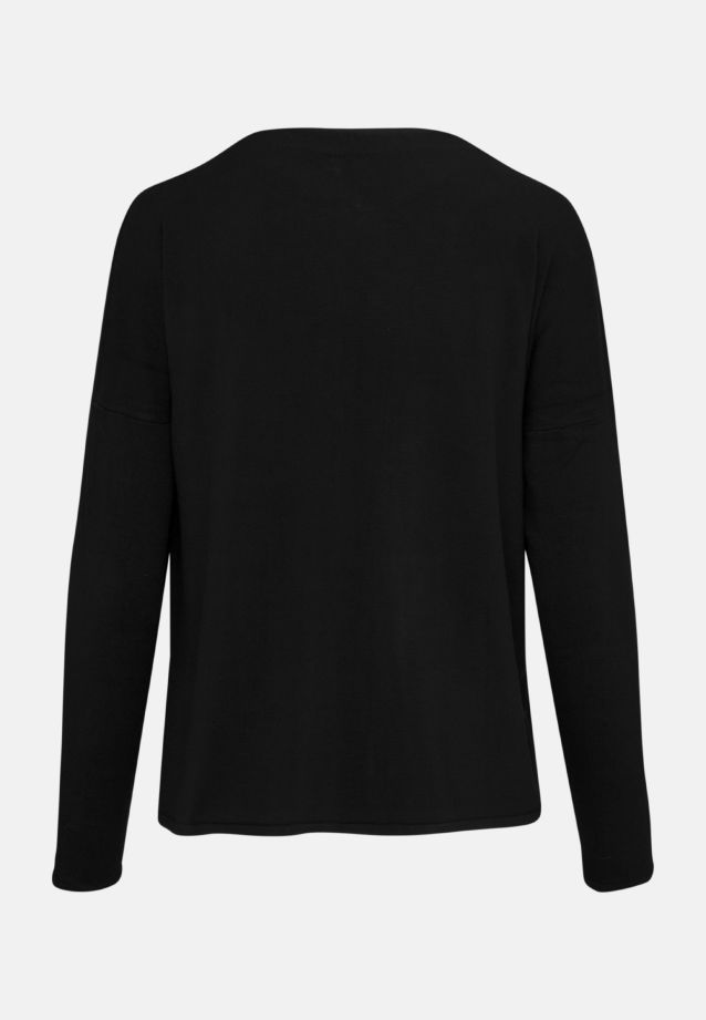 Crew Neck Cardigan made of 83% Viskose 17% Polyamid/Nylon in black    Seidensticker Onlineshop