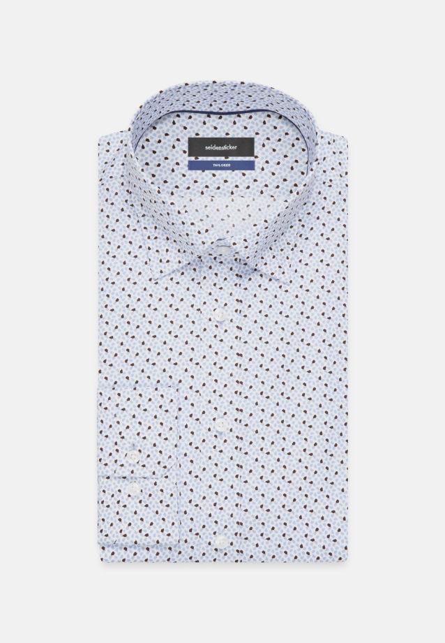 Bügelleichtes Popeline Business Hemd in Tailored mit Covered-Button-Down-Kragen in Hellblau |  Seidensticker Onlineshop