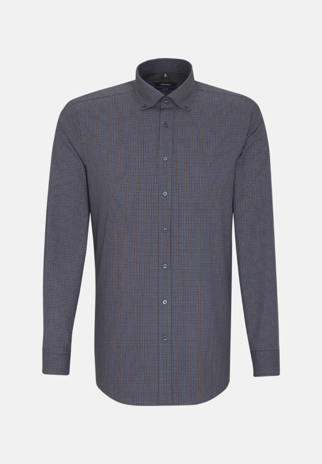 Bügelleichtes Popeline Business Hemd in Tailored mit Button-Down-Kragen in braun |  Seidensticker Onlineshop