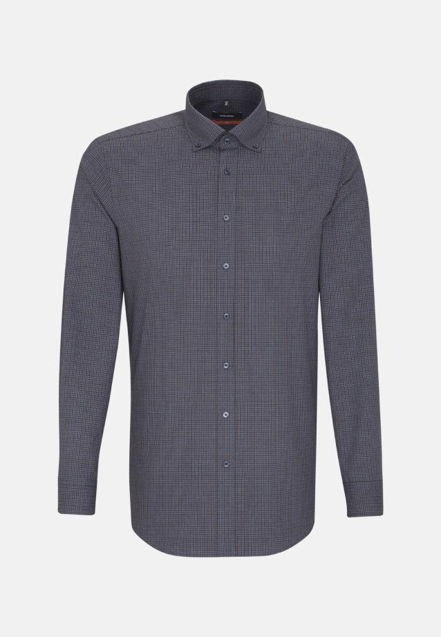 Bügelleichtes Popeline Business Hemd in Slim mit Button-Down-Kragen in Braun    Seidensticker Onlineshop