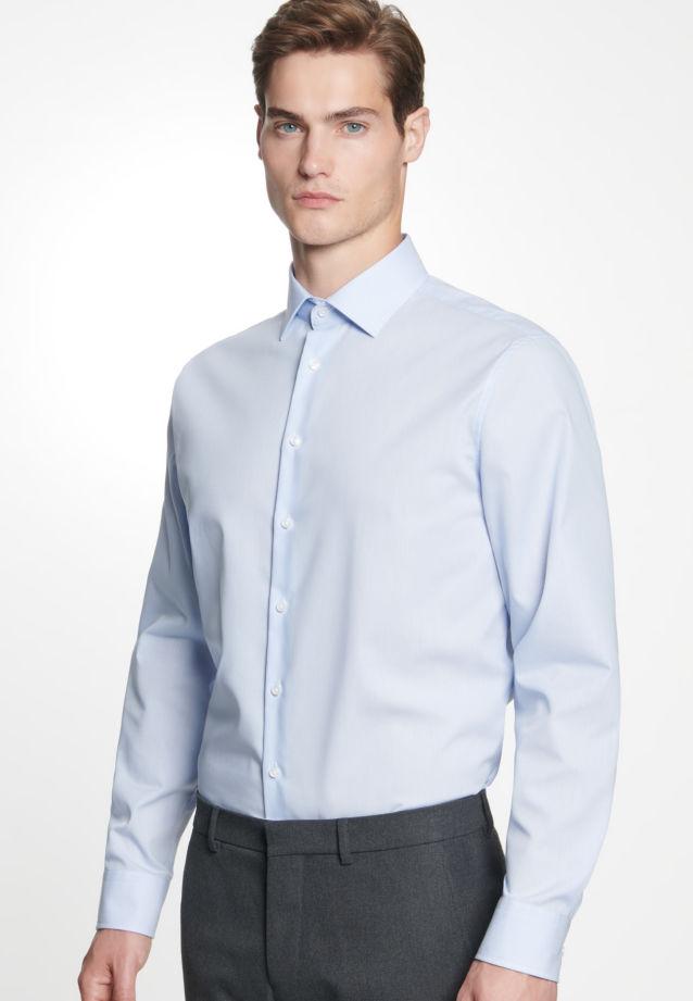Bügelfreies Popeline Business Hemd in Shaped mit Kentkragen in Hellblau    Seidensticker Onlineshop