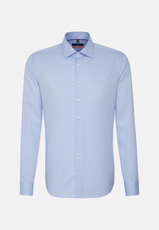 Non-iron Twill Business Shirt in Slim with Kent-Collar in blau    Seidensticker Onlineshop