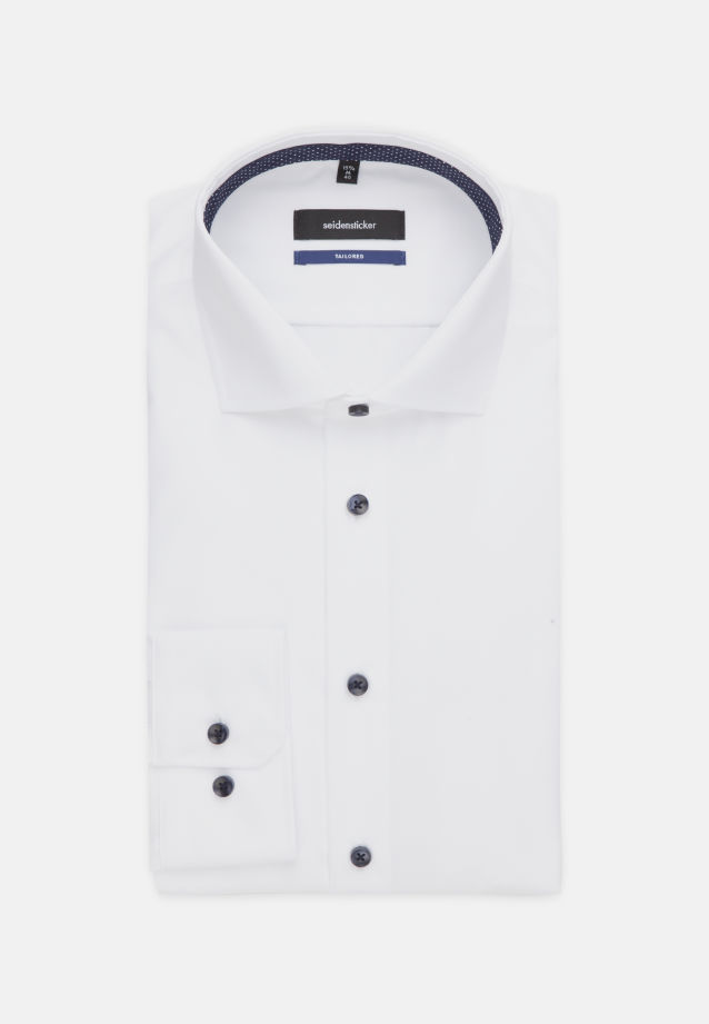 Non-iron Fil a fil Business Shirt in Shaped with Kent-Collar in White |  Seidensticker Onlineshop