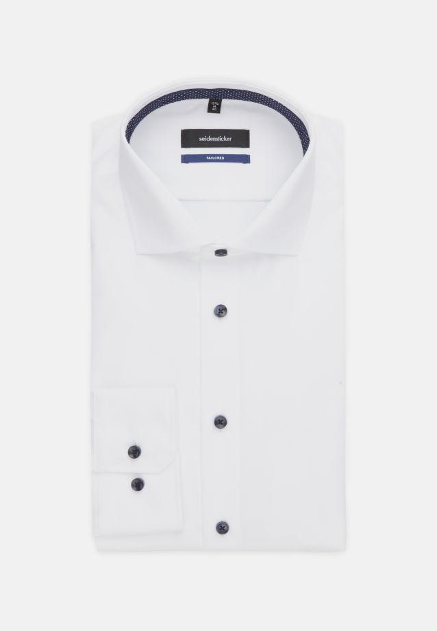 Bügelfreies Fil a fil Business Hemd in Shaped mit Kentkragen in Weiß |  Seidensticker Onlineshop