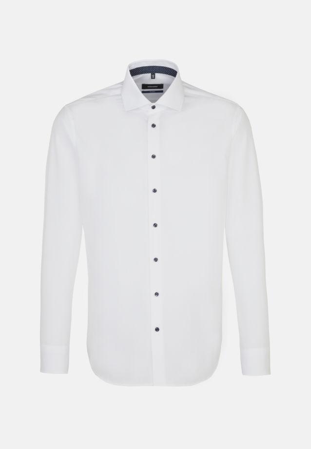 Bügelfreies Fil a fil Business Hemd in Tailored mit Kentkragen in weiß |  Seidensticker Onlineshop