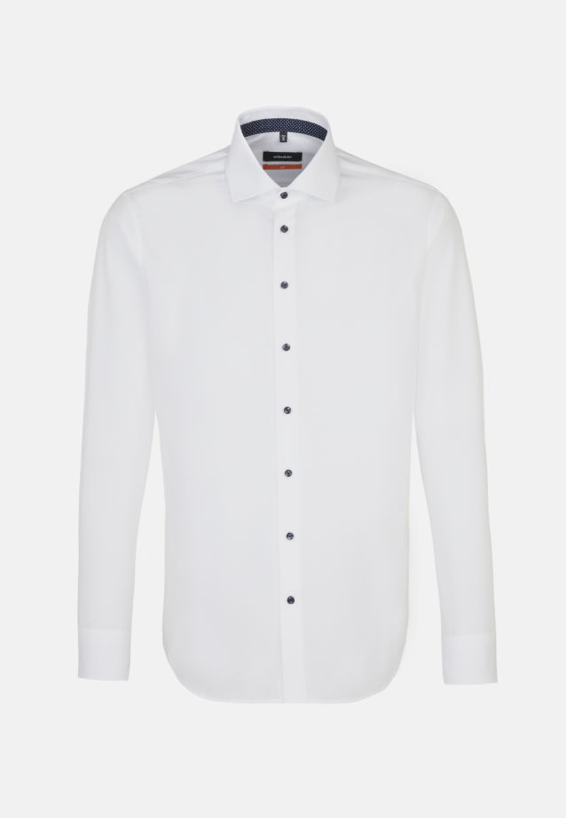 Non-iron Fil a fil Business Shirt in Slim with Kent-Collar and extra long sleeve in White |  Seidensticker Onlineshop
