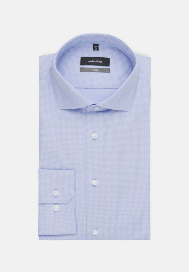 Bügelleichtes Popeline Business Hemd in X-Slim mit Kentkragen in blau |  Seidensticker Onlineshop
