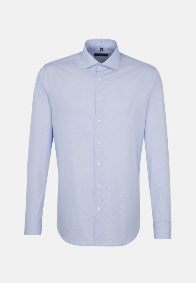 Easy-iron Poplin Business Shirt in X-Slim with Kent-Collar in blau |  Seidensticker Onlineshop
