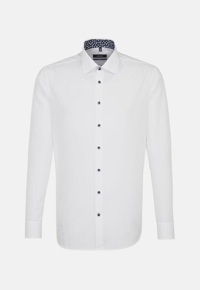 Bügelfreies Popeline Business Hemd in Shaped mit Kentkragen in Weiß |  Seidensticker Onlineshop