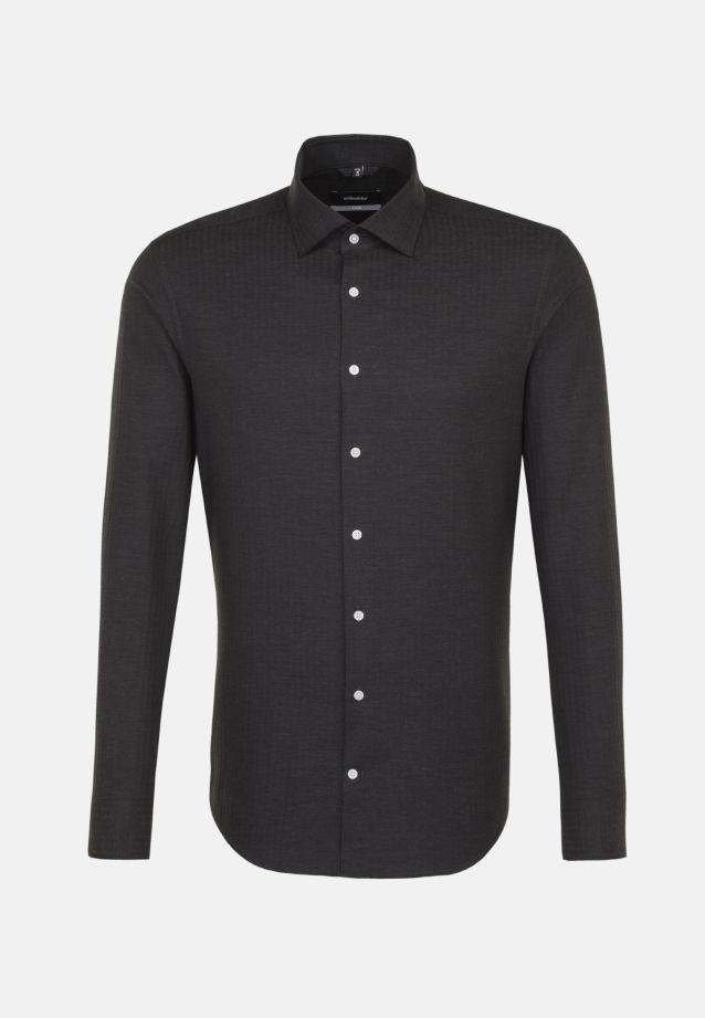 Easy-iron Structure Business Shirt in X-Slim with Kent-Collar in Grey |  Seidensticker Onlineshop