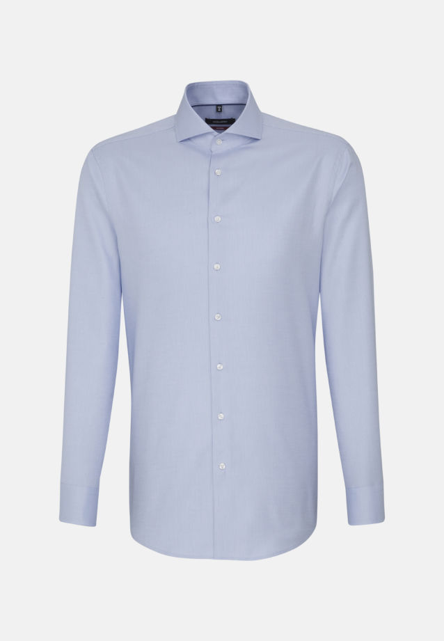 Easy-iron Structure Business Shirt in Modern with Shark Collar in Light blue |  Seidensticker Onlineshop