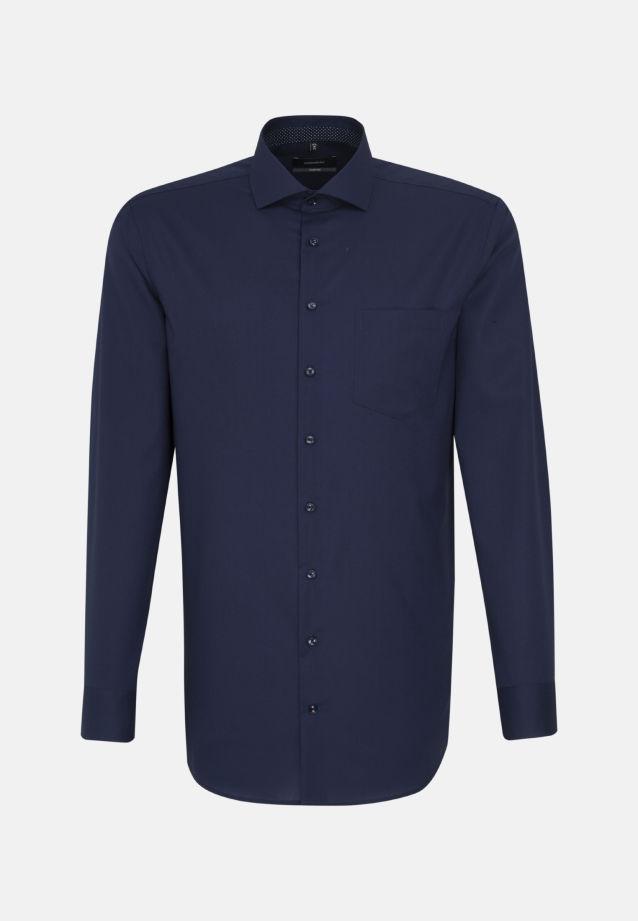 Non-iron Fil a fil Business Shirt in Comfort with Kent-Collar in dunkelblau |  Seidensticker Onlineshop