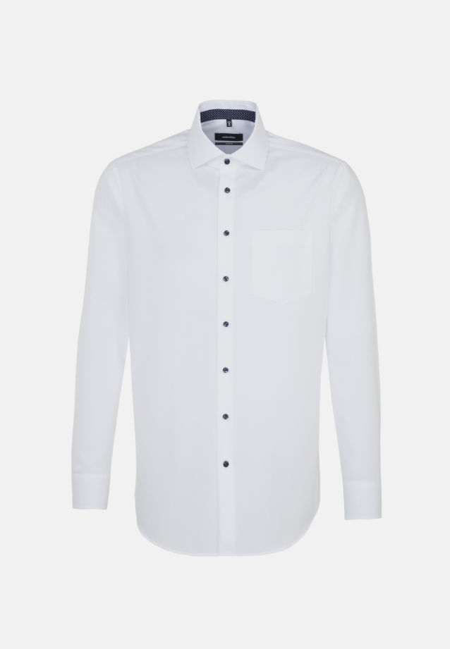 Non-iron Fil a fil Business Shirt in Comfort with Kent-Collar in White |  Seidensticker Onlineshop
