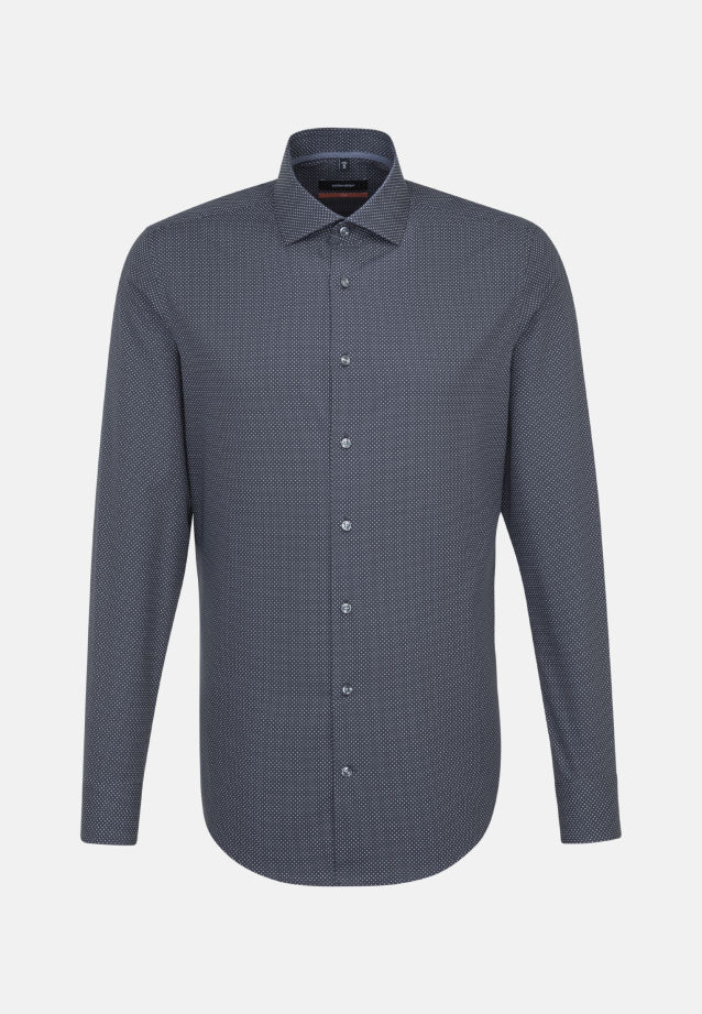 Easy-iron Poplin Business Shirt in Slim with Kent-Collar and extra long sleeve in Grey |  Seidensticker Onlineshop