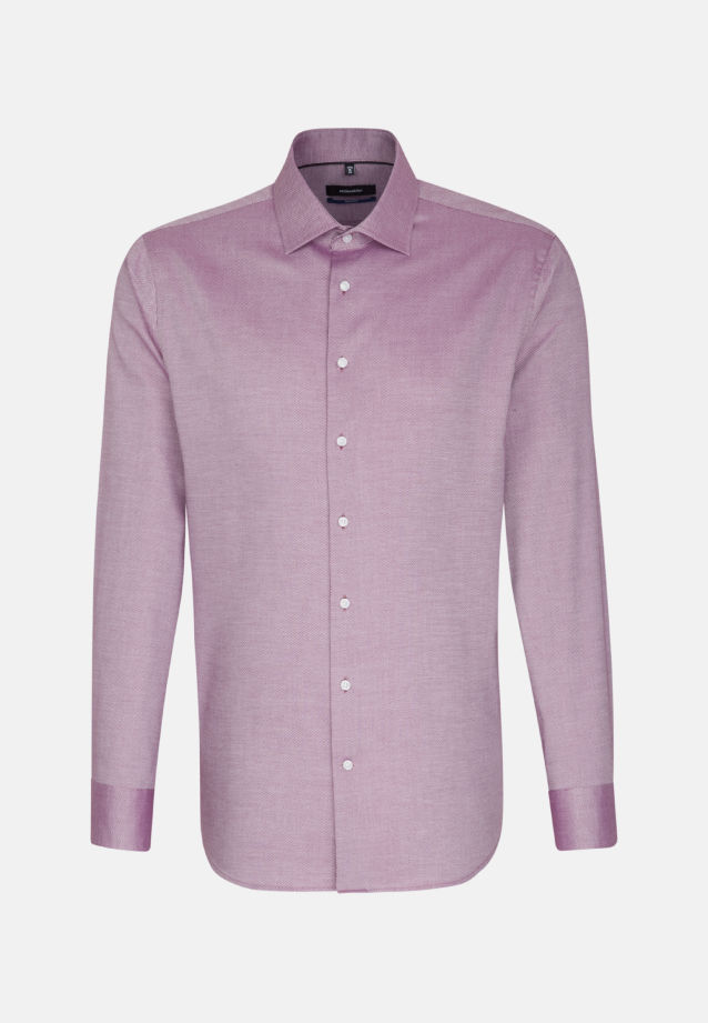 Bügelfreies Struktur Business Hemd in Tailored mit Kentkragen in lila |  Seidensticker Onlineshop