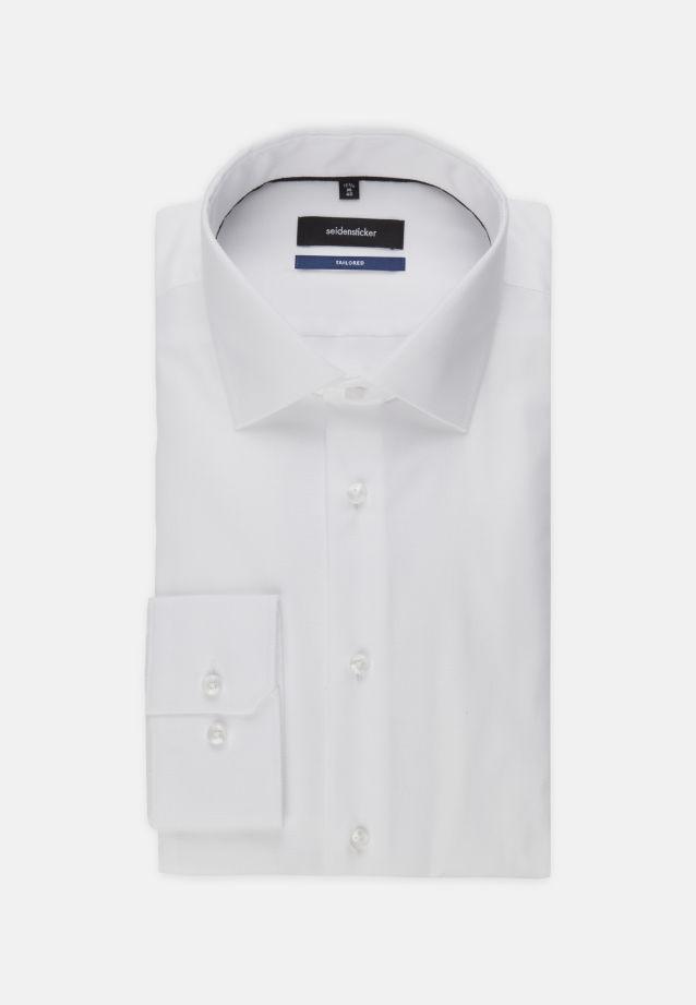 Bügelfreies Struktur Business Hemd in Tailored mit Kentkragen in weiß |  Seidensticker Onlineshop