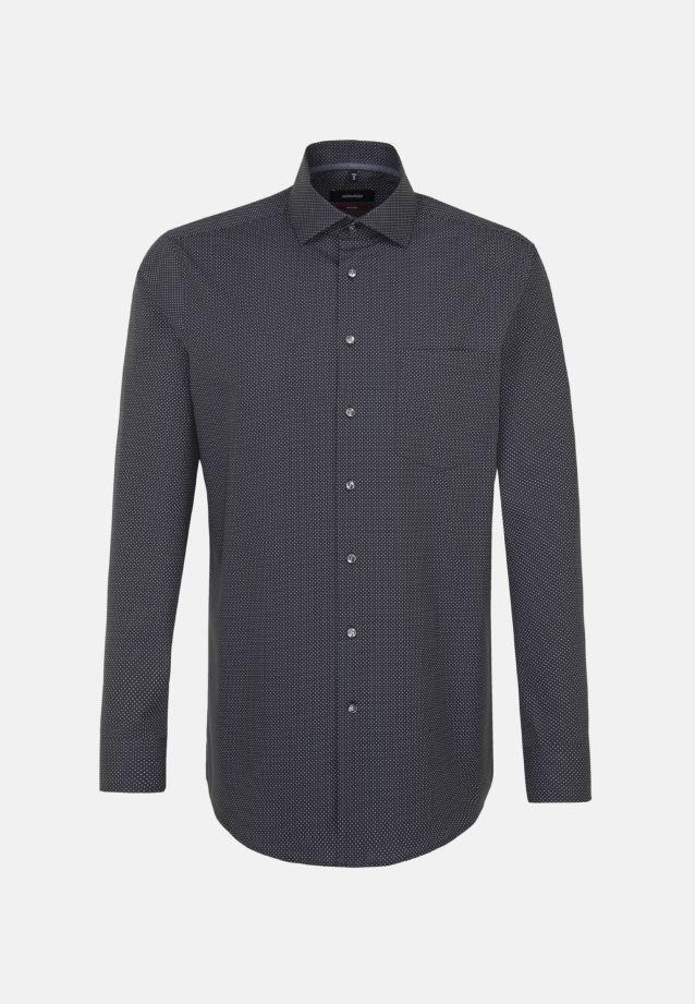 Bügelleichtes Popeline Business Hemd in Modern mit Kentkragen in Grau |  Seidensticker Onlineshop