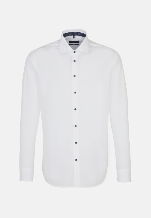 Non-iron Fil a fil Business Shirt in Shaped with Kent-Collar and extra long arm in White |  Seidensticker Onlineshop