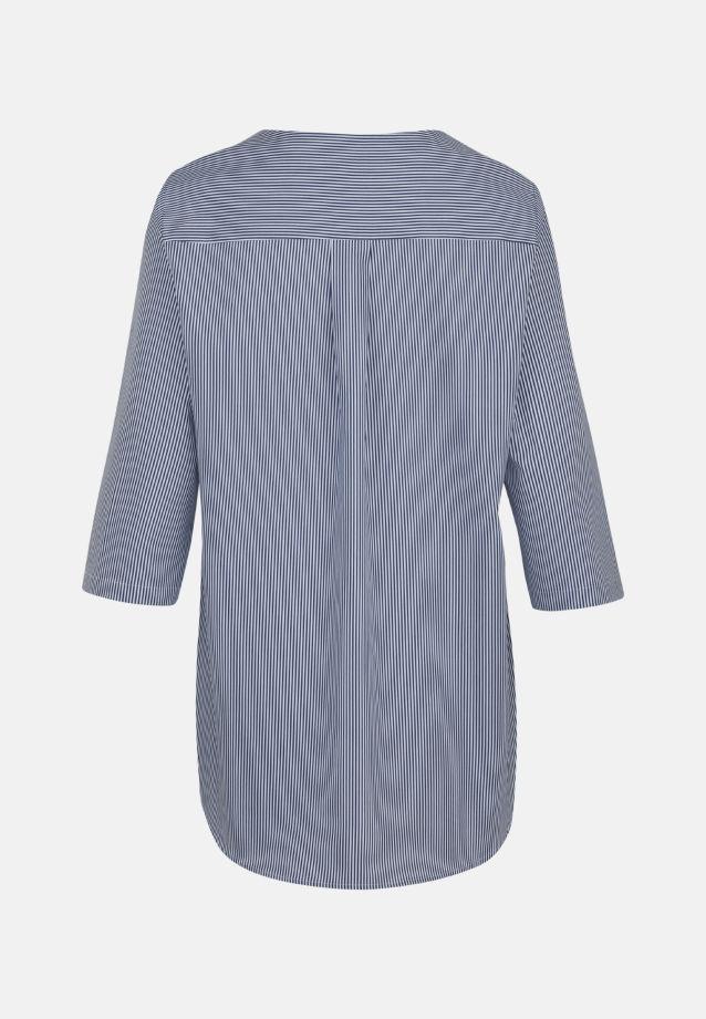 3/4 arm Poplin Shirt Blouse aus 100% Cotton in marine |  Seidensticker Onlineshop