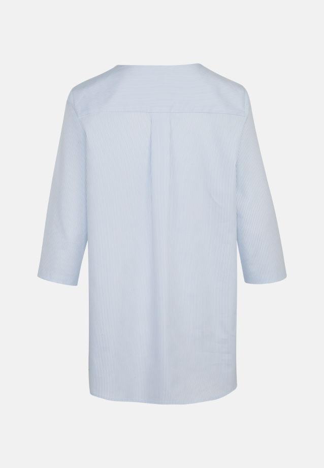 3/4 Arm Popeline Shirtbluse aus 100% Baumwolle in Hellblau |  Seidensticker Onlineshop