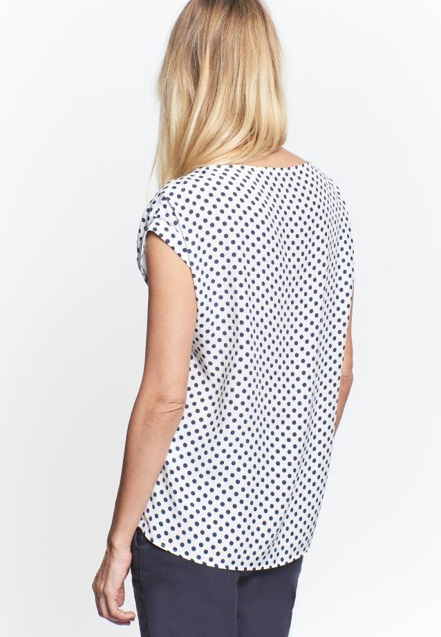 Sleeveless Voile Shirt Blouse made of 100% Viskose in weiß-marine |  Seidensticker Onlineshop