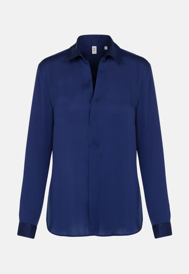 Satin Slip Over Blouse made of 100% Polyester in dunkelblau |  Seidensticker Onlineshop