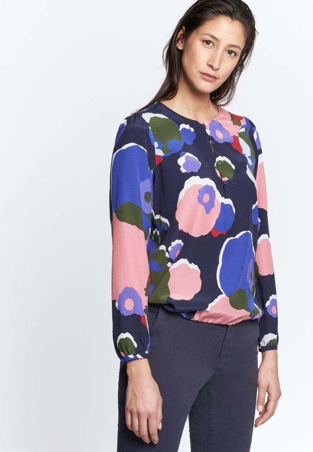 Shirt Blouse made of 55% Cupro 45% Viskose in Dark blue |  Seidensticker Onlineshop