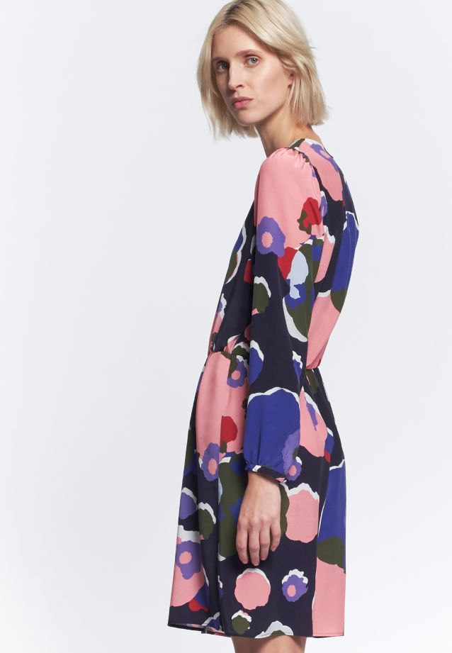 Dress made of 55% Cupro 45% Viskose in dunkelblau |  Seidensticker Onlineshop