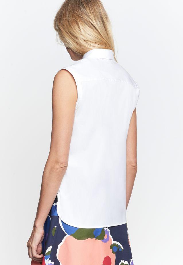 Ärmellose Popeline Hemdbluse aus Baumwollmischung in Weiß |  Seidensticker Onlineshop