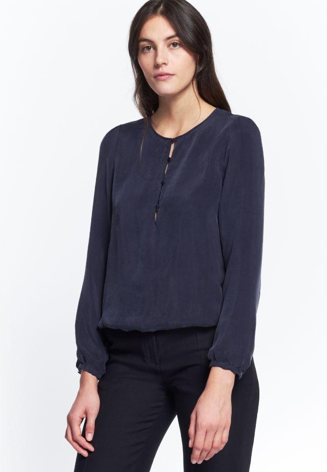 Shirt Blouse made of 55% Rayon 45% Cupro in dunkelblau |  Seidensticker Onlineshop