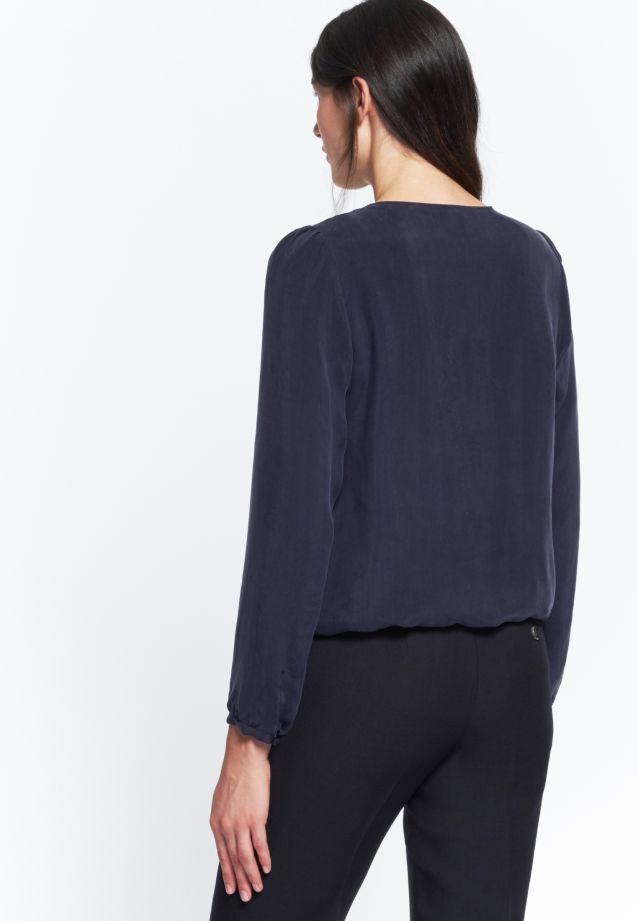 Shirtbluse aus 55% Rayon 45% Cupro in Dunkelblau |  Seidensticker Onlineshop