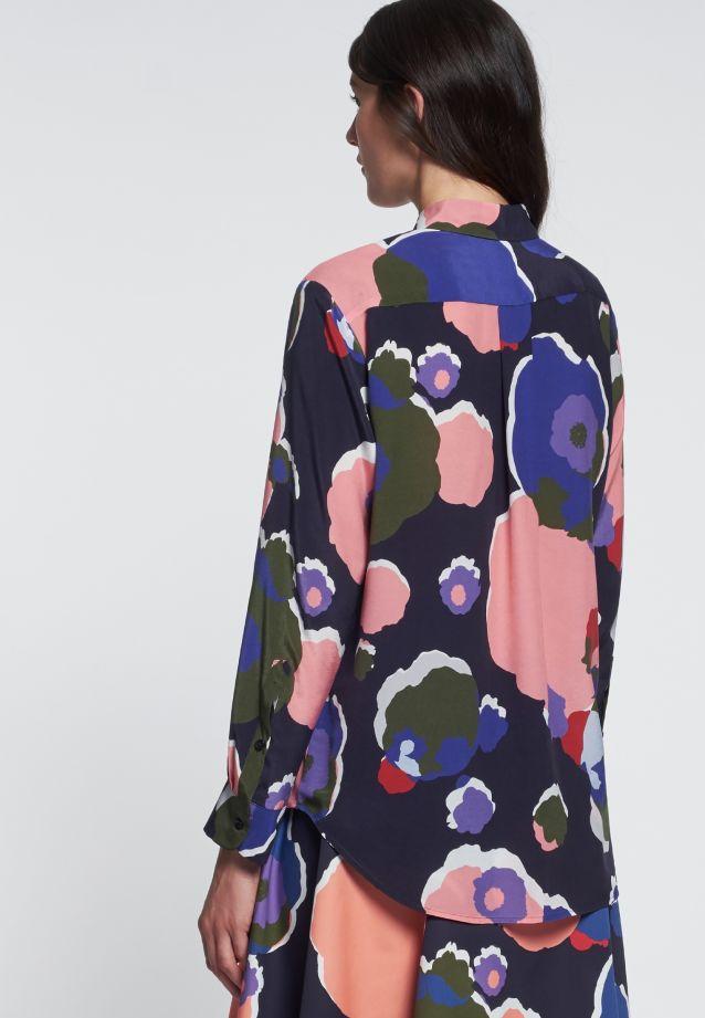 Shirt Blouse made of cupro blend in Dark blue |  Seidensticker Onlineshop