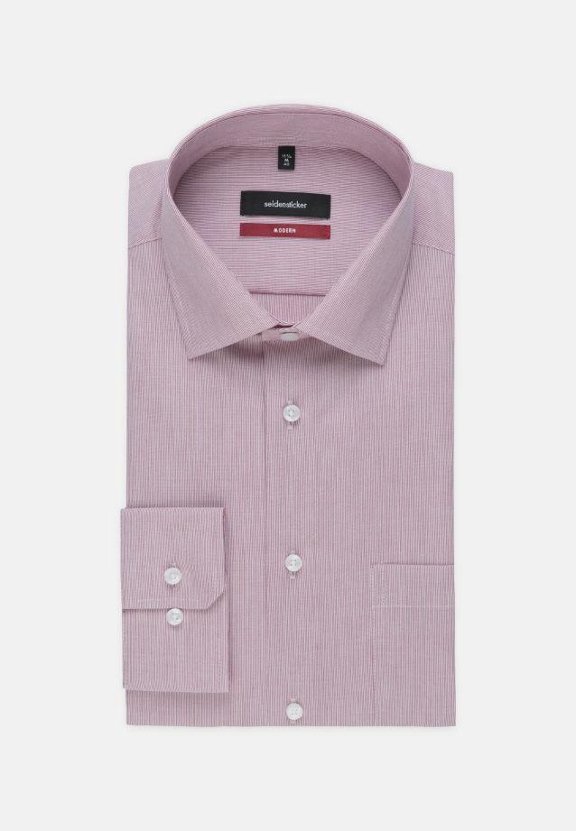 Bügelfreies Popeline Business Hemd in Modern mit Kentkragen und extra langem Arm in Rot |  Seidensticker Onlineshop