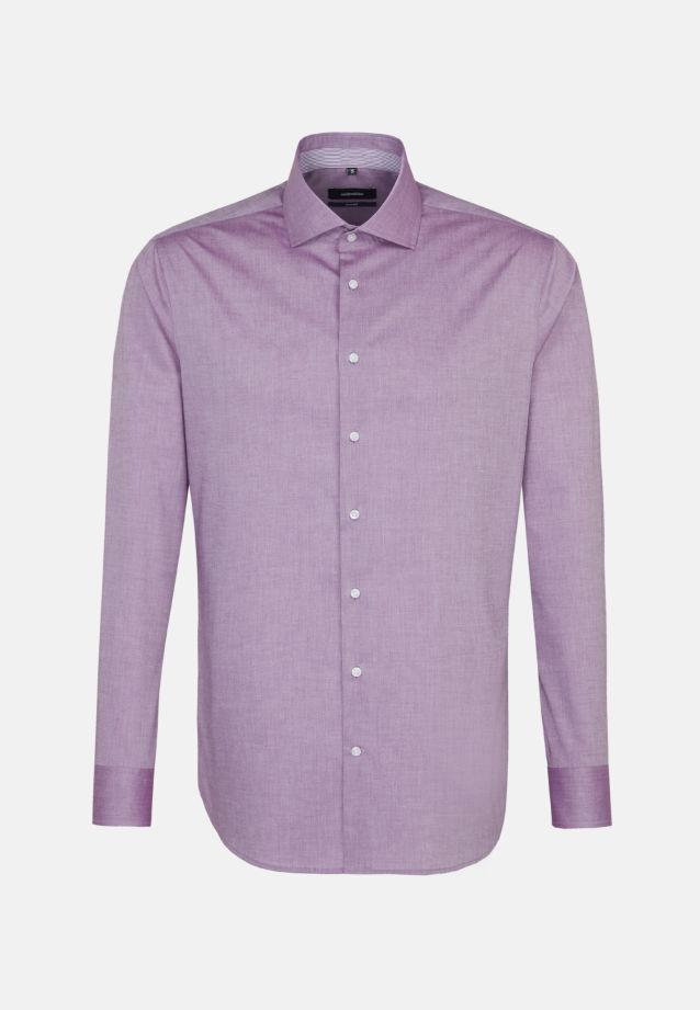 Bügelfreies Chambray Business Hemd in Tailored mit Kentkragen in Lila |  Seidensticker Onlineshop