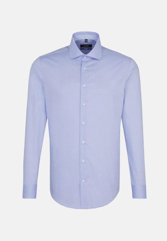 Bügelfreies Chambray Business Hemd in Shaped mit Kentkragen in Hellblau    Seidensticker Onlineshop