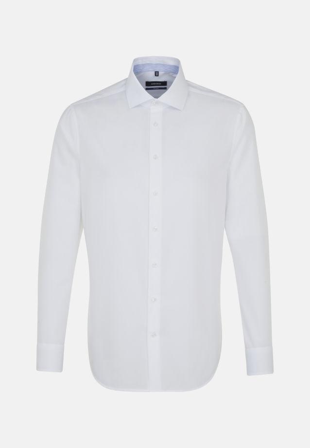 Bügelfreies Chambray Business Hemd in Shaped mit Kentkragen in Weiß    Seidensticker Onlineshop
