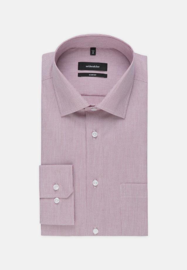 Bügelfreies Popeline Business Hemd in Comfort mit Kentkragen und extra langem Arm in rot |  Seidensticker Onlineshop