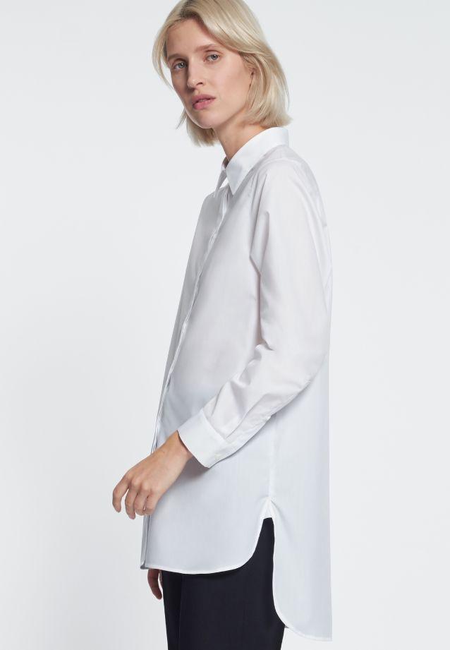 Poplin Long Blouse made of 100% Cotton in weiß    Seidensticker Onlineshop