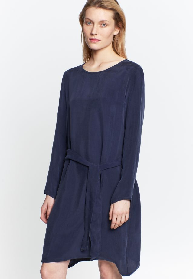 Dress made of 55% Rayon 45% Cupro in dunkelblau |  Seidensticker Onlineshop