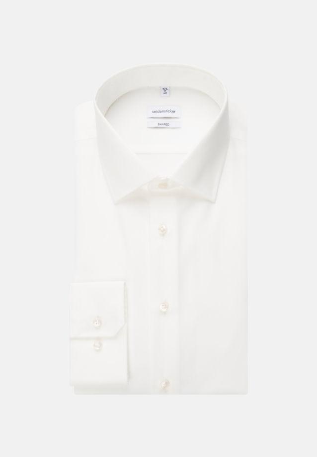 Bügelfreies Popeline Business Hemd in Shaped mit Kentkragen in Ecru |  Seidensticker Onlineshop