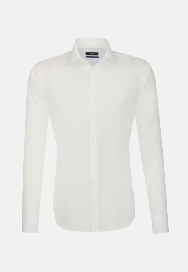 Non-iron Poplin Business Shirt in Shaped with Kent-Collar in Ecru |  Seidensticker Onlineshop