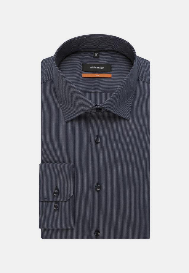 Bügelfreies Popeline Business Hemd in Slim mit Kentkragen in blau    Seidensticker Onlineshop