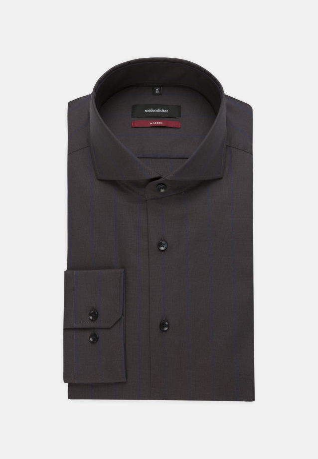 Easy-iron Structure Business Shirt in Regular with Shark Collar in Dark blue |  Seidensticker Onlineshop