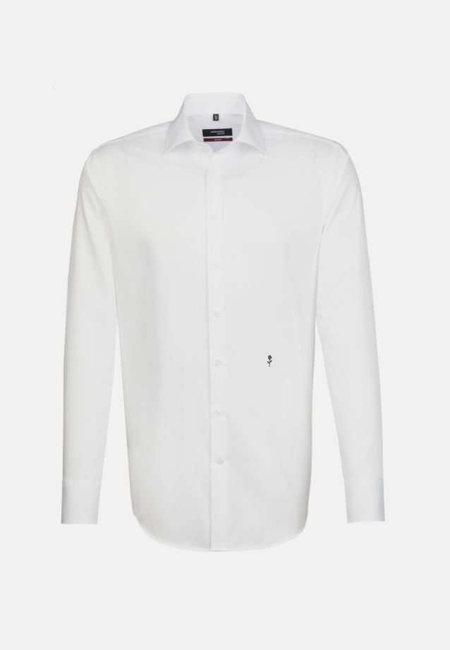 Non-iron Twill Business Shirt in Modern with Kent-Collar in White |  Seidensticker Onlineshop