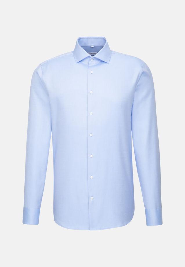 Bügelleichtes Twill Business Hemd in Shaped mit Kentkragen in Hellblau |  Seidensticker Onlineshop