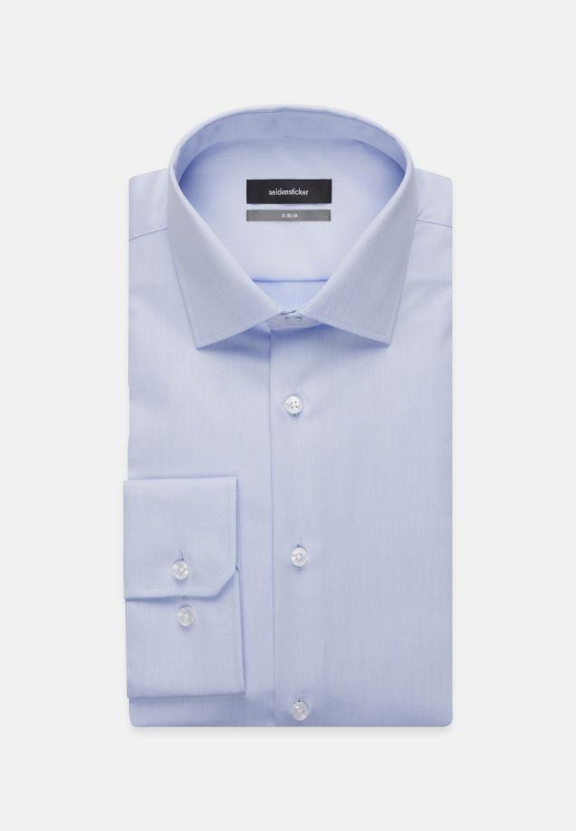 Bügelfreies Twill Business Hemd in X-Slim mit Kentkragen in blau |  Seidensticker Onlineshop