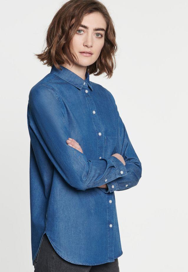 Denim Hemdbluse aus 100% Baumwolle in Mittelblau |  Seidensticker Onlineshop