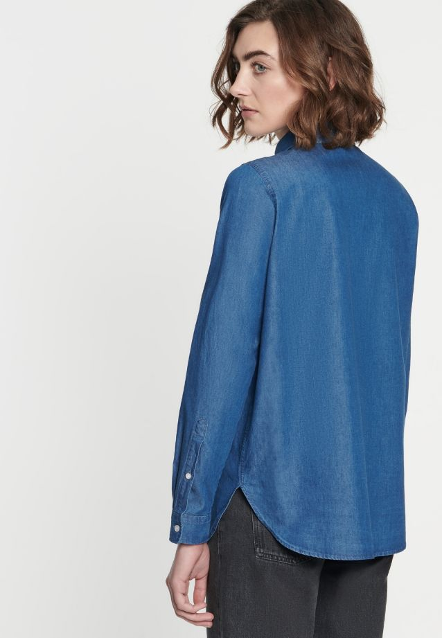 Denim Shirt Blouse made of 100% Cotton in Medium blue |  Seidensticker Onlineshop